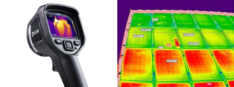 location camera thermique maintenance panneau solaire