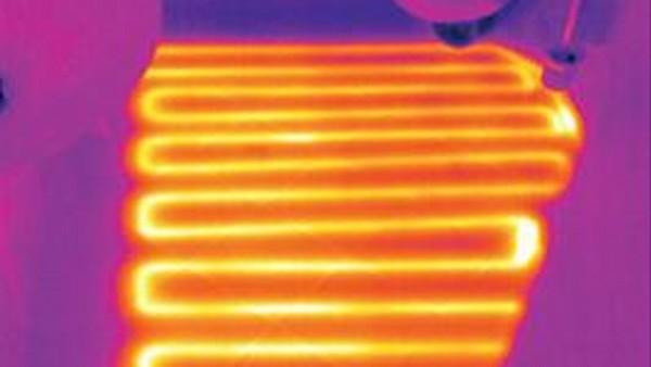 La location de caméra thermique permets de visualiser des cordons chauffants