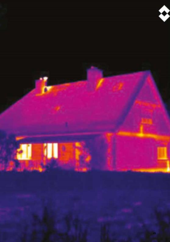 photo thermique d'une maison