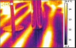 Détection de fuite dans un système de chauffage par caméra thermique