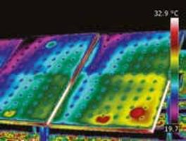 image thermique panneaux photovoltaïques