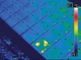 image de défaut de panneaux solaires