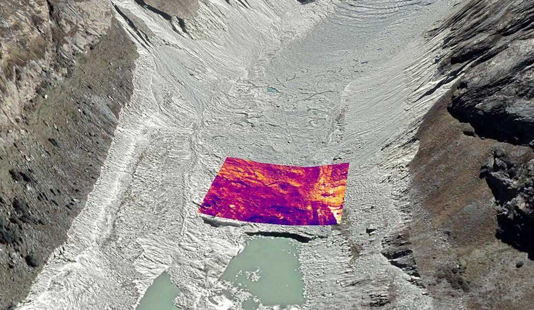 Les chercheurs étudient la fonte des glaciers à l'aide des images des drones thermiques